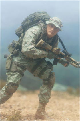 McFarlane's Military Series 1 Marine Corps Recon caucasian action figure toy