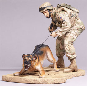 McFarlane's Military Series 3 Air Force Security Forces K9 Handler Action Figure