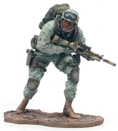 McFarlane's Military Series 1 Marine Corps Recon African American toy soldier