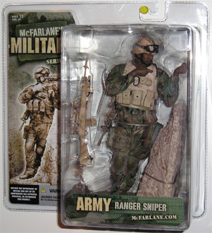 McFarlane's Military Series 3 Army Ranger Sniper toy soldier