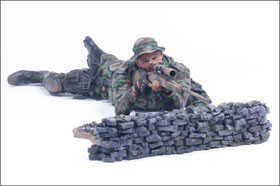 McFarlane's Military Redeployed Marine Corps Recon Sniper action figure toy